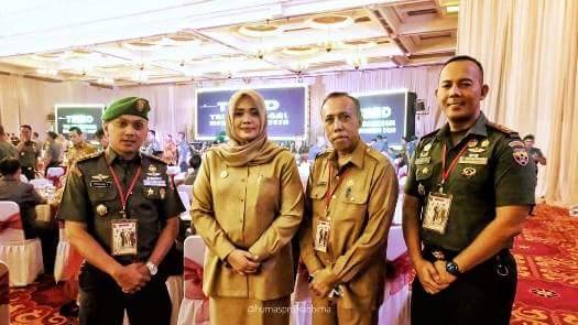 Bareng Dandim 1608 dan Kadis BPMDes, Bupati Hadiri Rakornis TMMD ke-103 di Jakarta