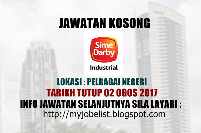Jawatan Kosong Sime Darby Industrial Ogos 2017