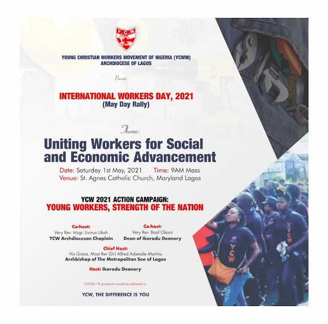 Young Christian Workers Movement of Nigeria, Lagos Archdiocese set to commemorate annual May Day