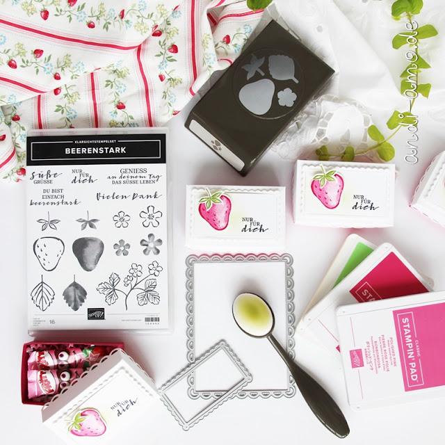 Stampin Up Produktpaket Beerenstark Goodie-Anleitung