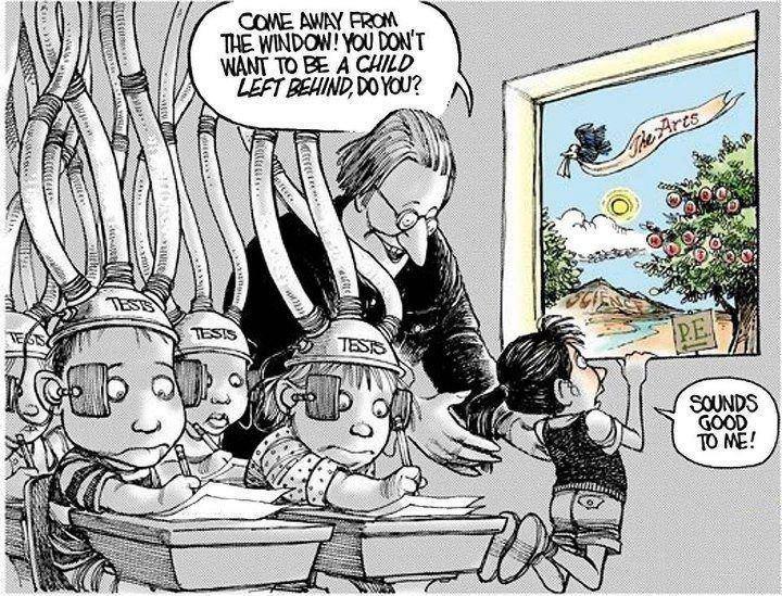 Eternal Freedom: No child left behind comic - Irony?