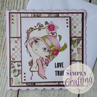 Verity Rose Moonstruck - Handmade Card