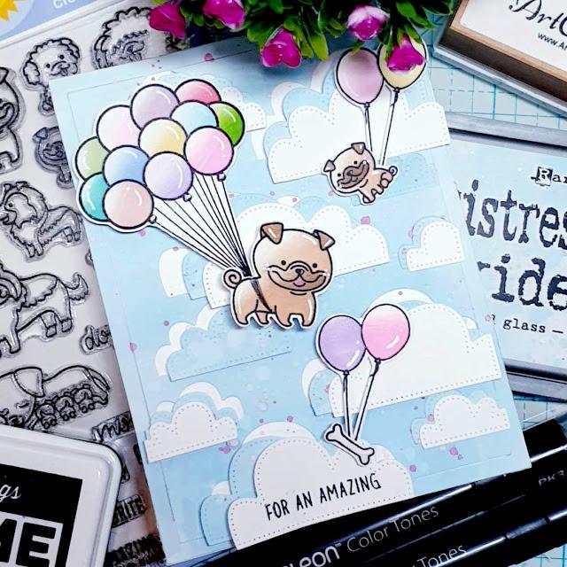 Sunny Studio Stamps: Puppy Parents Customer Card by Artcreatiu