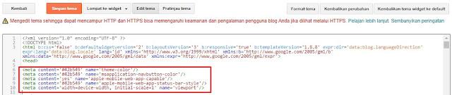 Update! Cara Merubah Warna Tema Blog bagian Address Bar Google Chrome