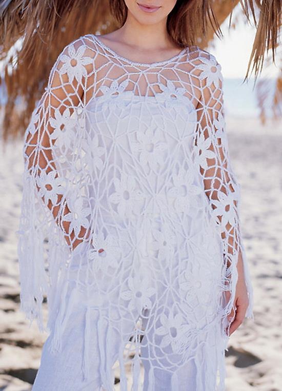 Crochet Shawls: Free Crochet Poncho Pattern - Gorgeous For Summer