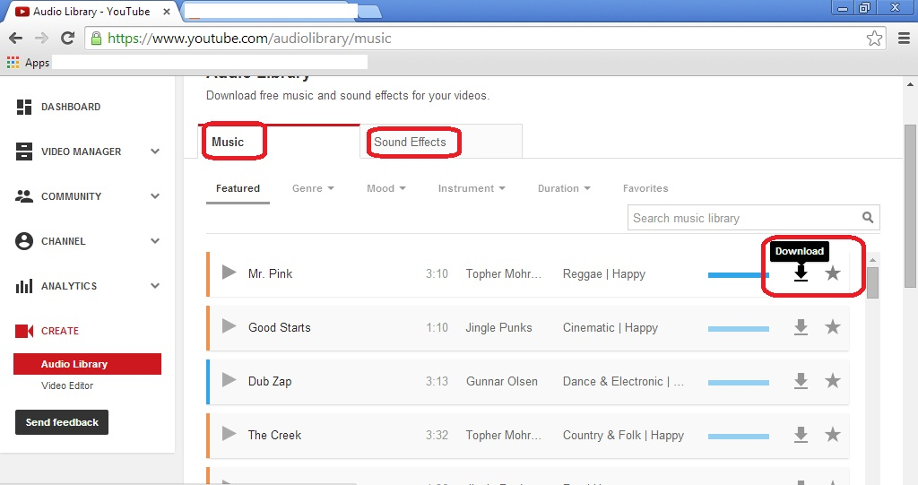 Electrofries : Youtube 101: How to use Youtube Audio Library