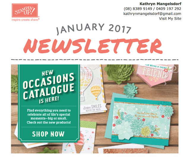 Kathryn's Stampin' World - Monthly Newsletter, are you receiving it, contact me if you are not
