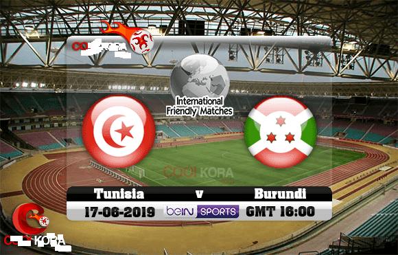 Live : tunisia vs burundi match en direct du 17 juin 2019