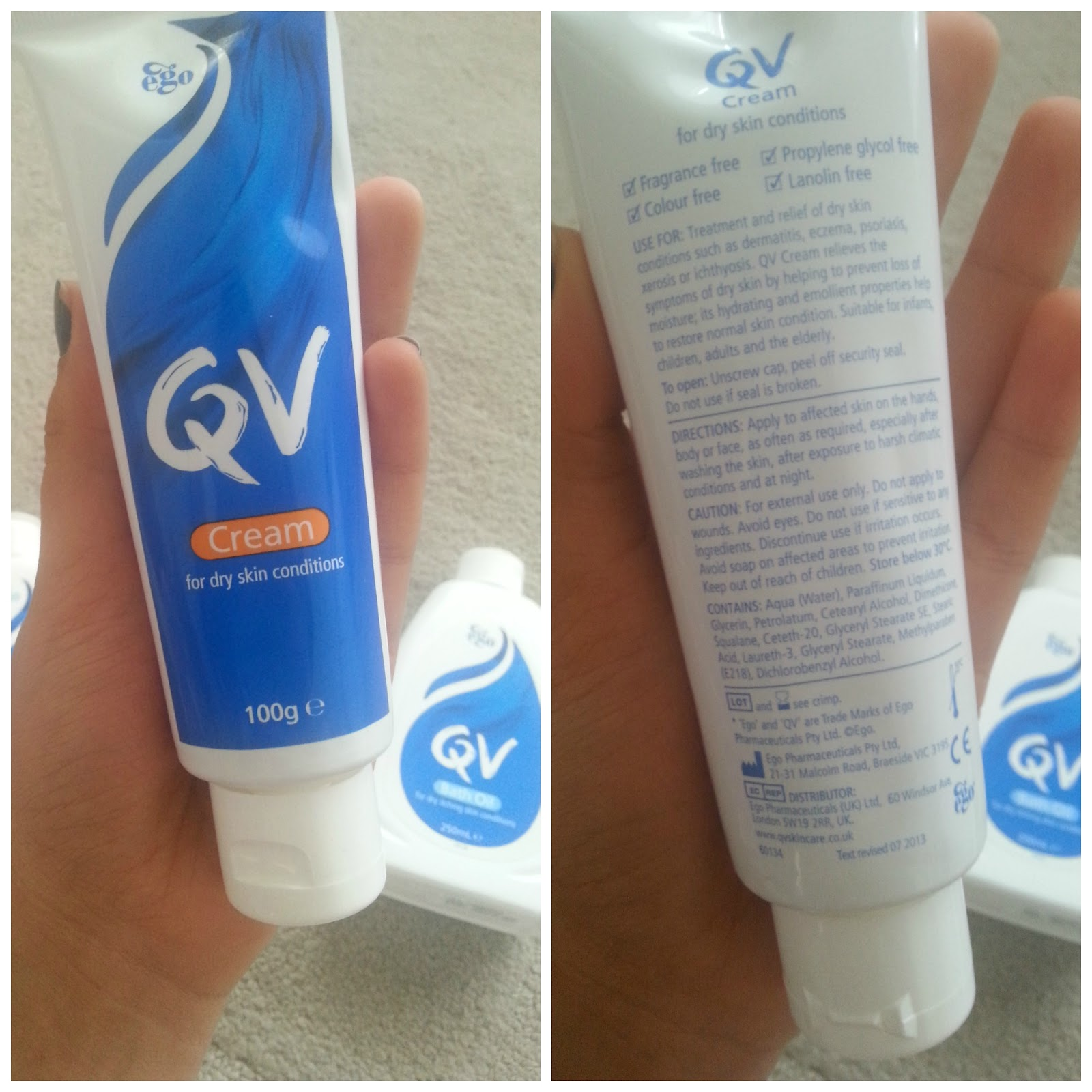 QV Skincare Cream, Bath Oil and Lotion