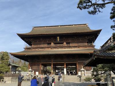Sanmon Gate at Zenkoji Temple in Nagano City, Japan
