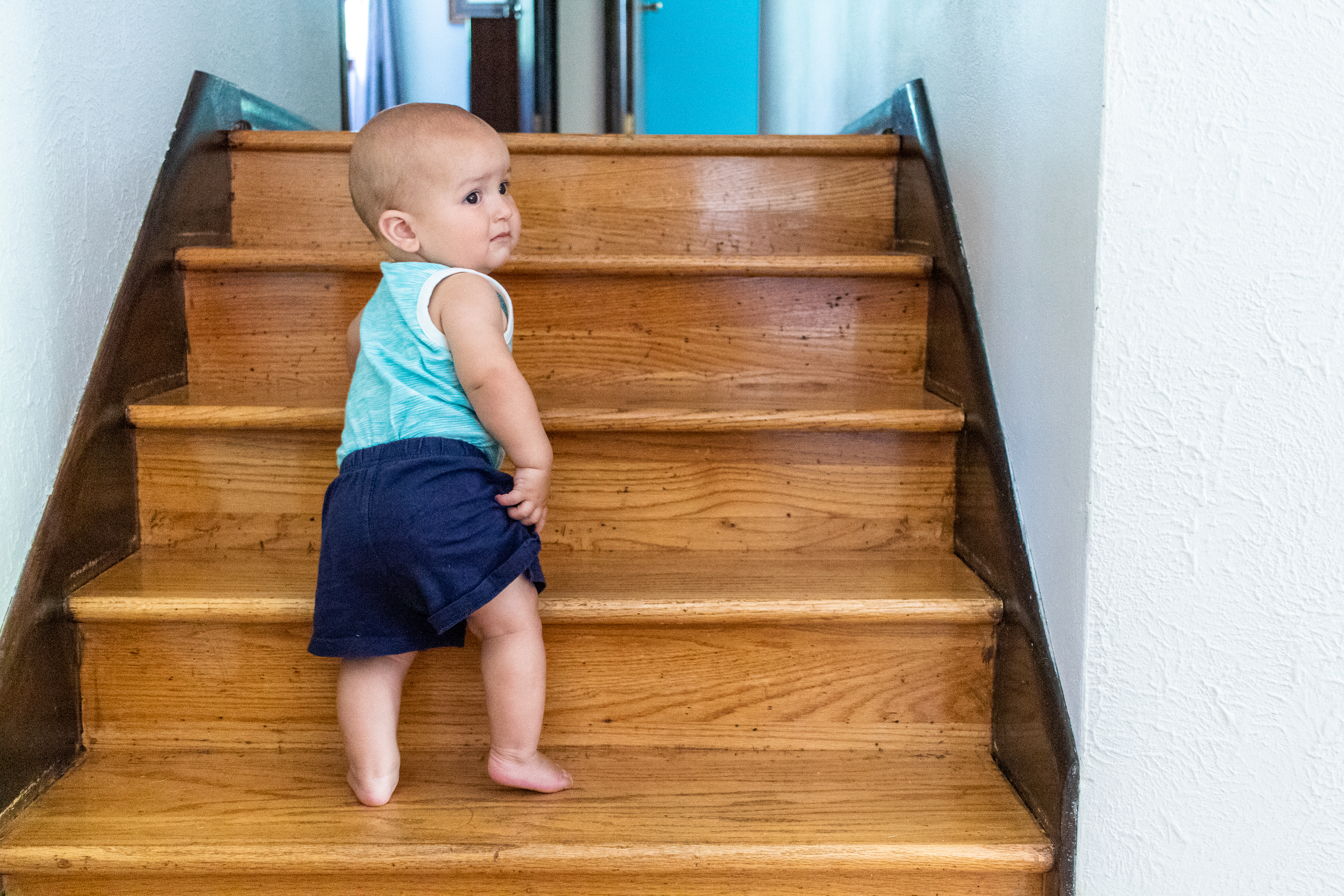 Parenting advice for Montessori babies and stairs. Here's some tips on how we approach stairs and keep everyone safe.