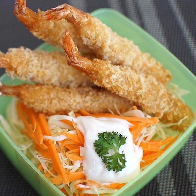 Resep Ebi Furai dan Salad Mayo