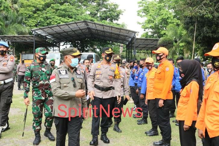 Bersama TNI dan Polri, Pemkab Takalar Gelar Apel Gabungan Siaga Penanggulangan Bencana