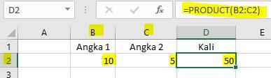 Rumus Perkalian Excel