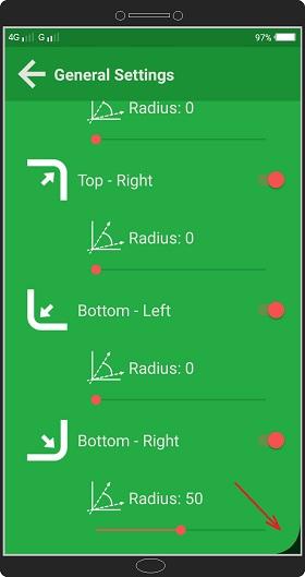 Cara Membuat Sudut Layar Android Membulat / Melengkung