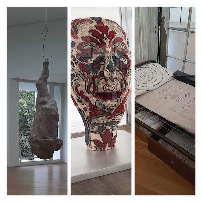 Três obras da artista Louise Bourgeois expostas no museu de  Serralves