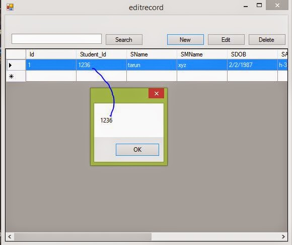 How to get cell value in selected row of DataGridView in windows form c#