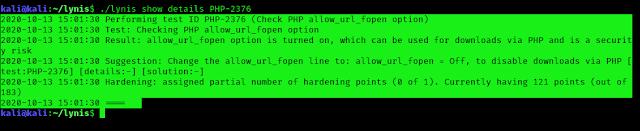 lynis php error solved