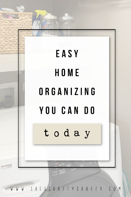 easy home organizing you can do today