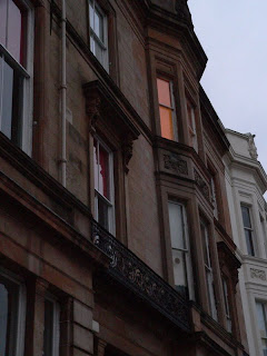 glasgow scotland woodside cresent  lighted window copyright kerry dexter