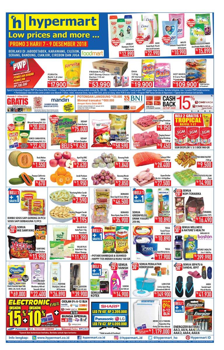 Hypermart - Promo Katalog JSM Periode 07 - 09 Desember 2018