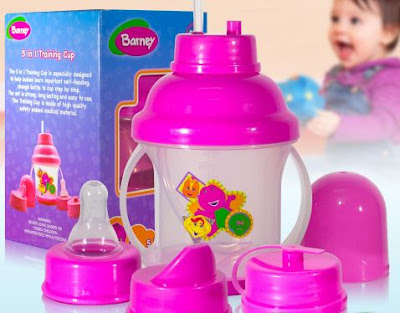 gumamit ng baby bottle o cup na may straw