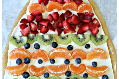 Sugar Cookie Easter Egg Fruit Pizza