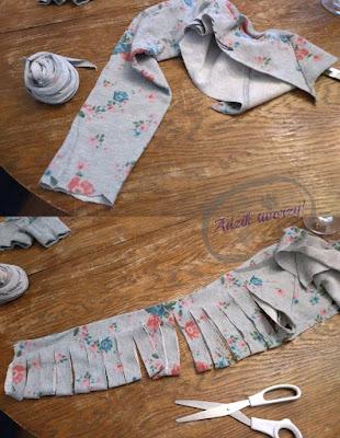 Tworzenie dywanu ze starych ubrań - Adzik tworzy