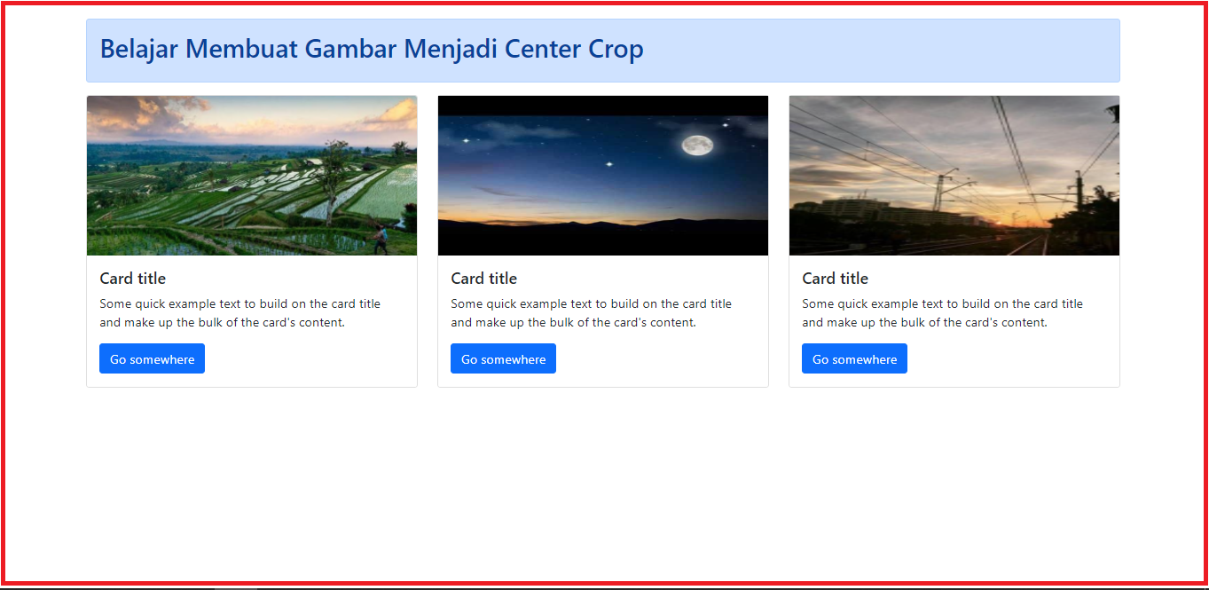 membuat gambar center crop dengan css