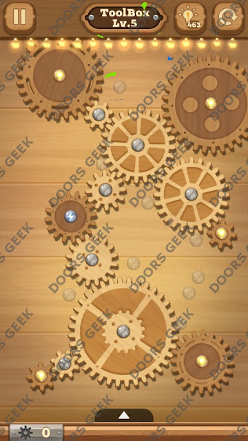 Fix it: Gear Puzzle [ToolBox] Level 5 Solution, Cheats, Walkthrough for Android, iPhone, iPad and iPod