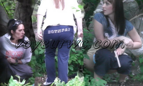 Hiding Place WC 11 (Spycam video of girls pissing outdoor)