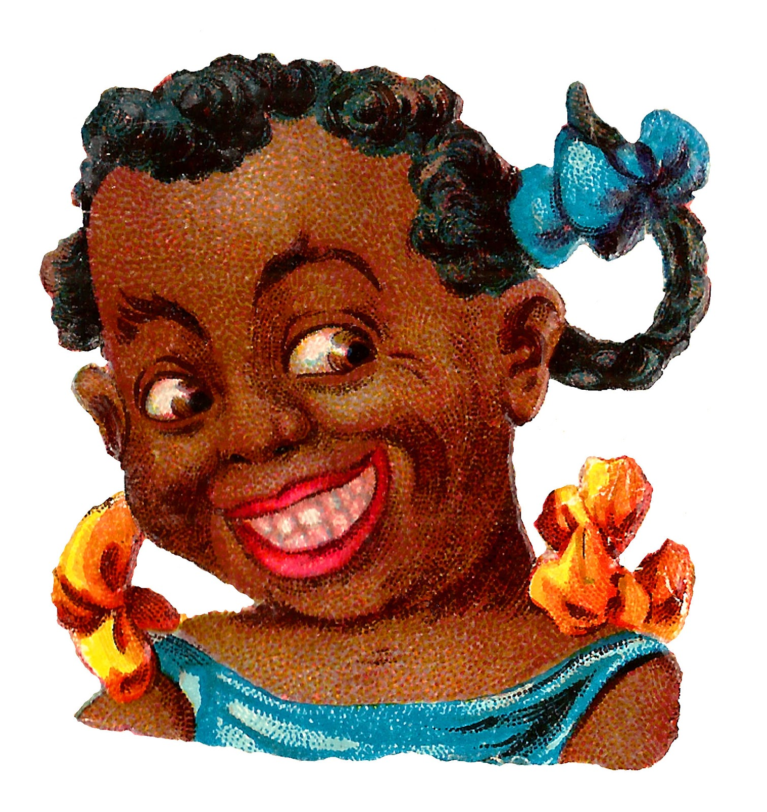 hight resolution of black americana girl portrait victorian clipart digital download