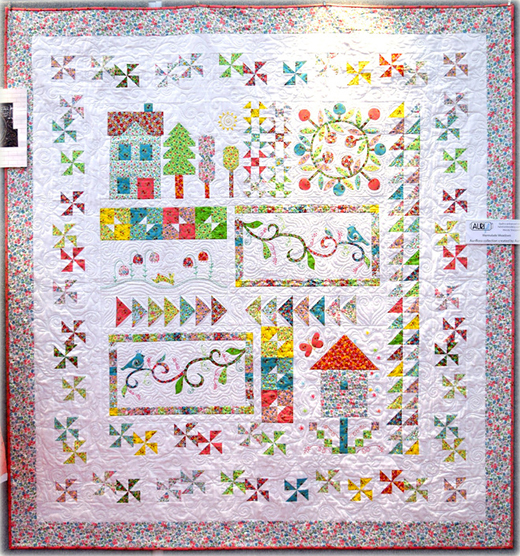Spring On Bleecker Street Quilt designed by Wendy Sheppard for Timeless Treasures
