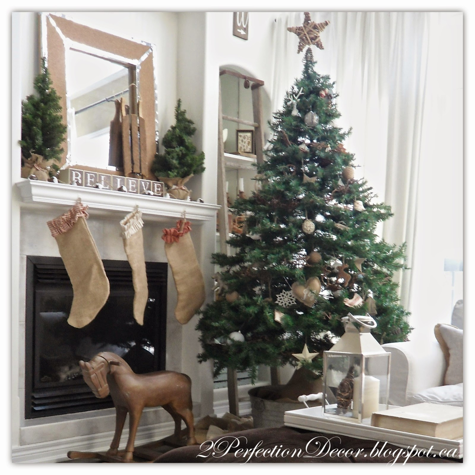 2 Perfection Decor- Jute Ribbon Christmas Tree-Treasure Hunt Thursday- From My Front Porch To Yours
