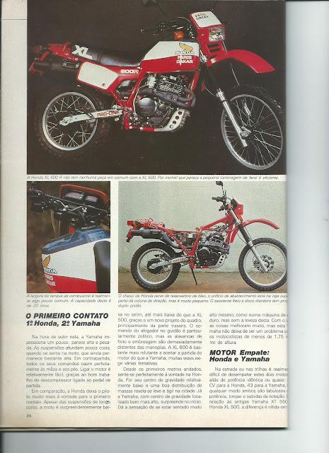 MS07 - Yamaha XT600 x Honda XL600 - O DUELO