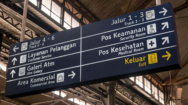 papan informasi bandara udara