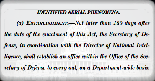 Congress Gives Birth To New UFO / UAP Investigations Unit