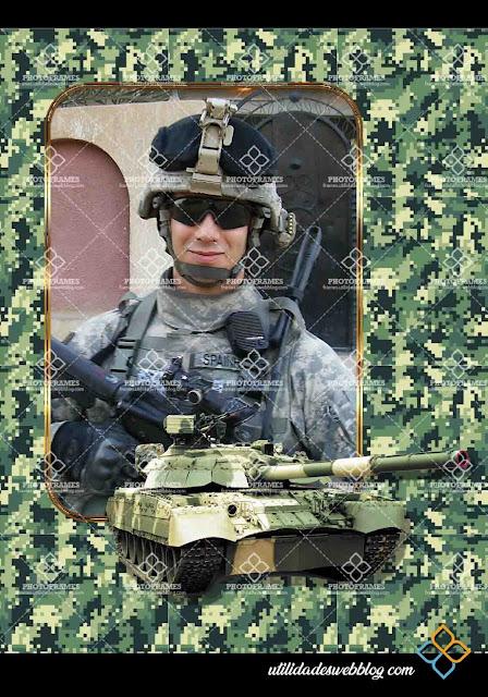 Marco para fotos al estilo militar en png