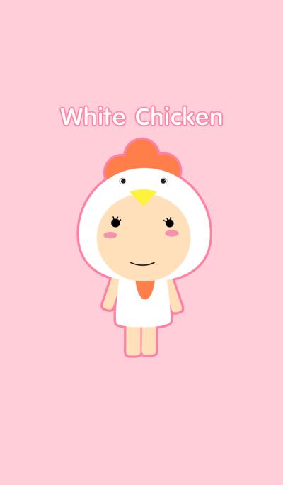 Girl white Chicken theme