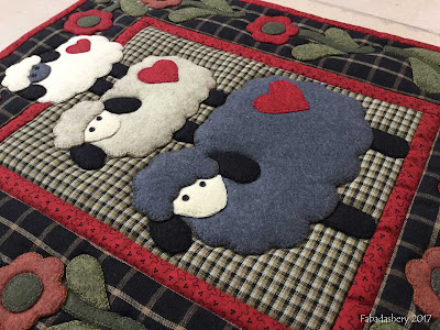 'Wooly Sheep' Wall Quilt Kit