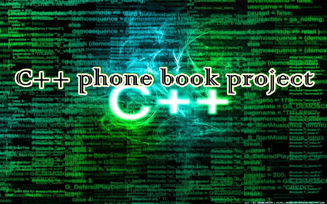 C++ phone book project