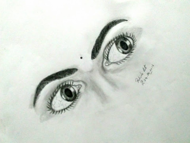 PENCIL DRAWING - CREATIVE EYES
