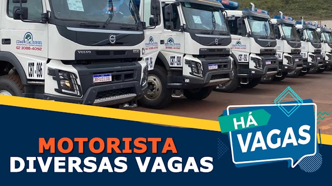 Comercial Diesel abre vagas para Motorista