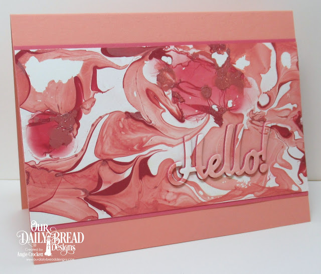 ODBD Custom Hello Die, Card Designer Angie Crockett