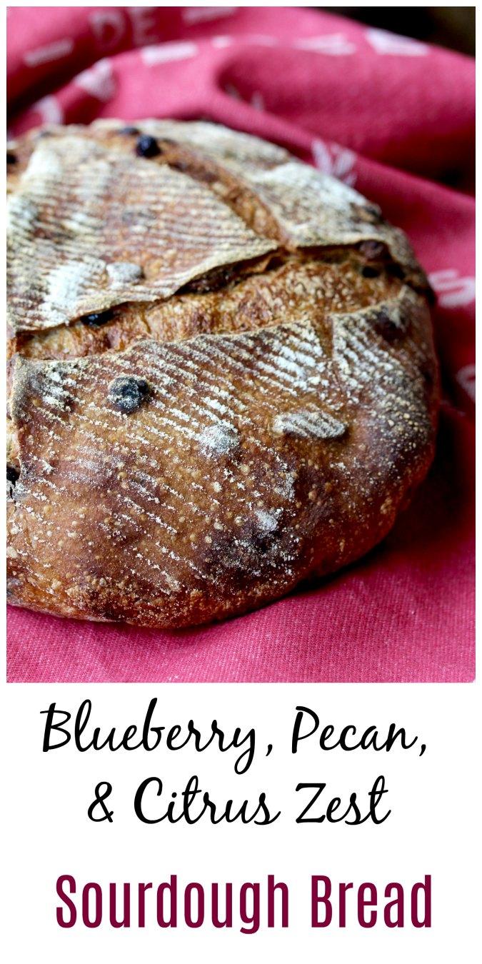 Blueberry and Pecan Pain au Levain #sourdough #bread