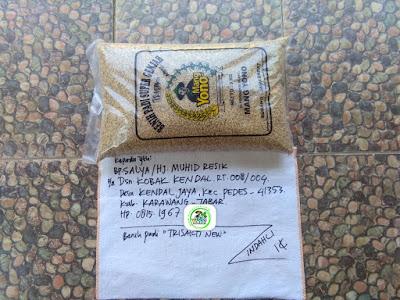 Benih pesanan SALYA Karawang, Jabar.    (Sebelum Packing)