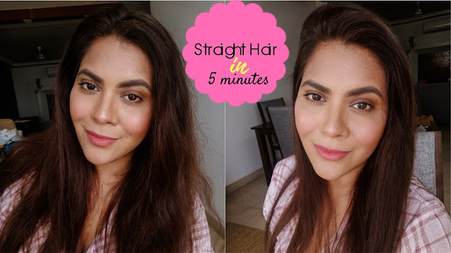 How to straighten hair in under 5 minutes, how to straightener hair, quick hairstyle, philips heated straightening brush, best hair straightener, heated straightening brush, hair care, home hair care, sleek hair,