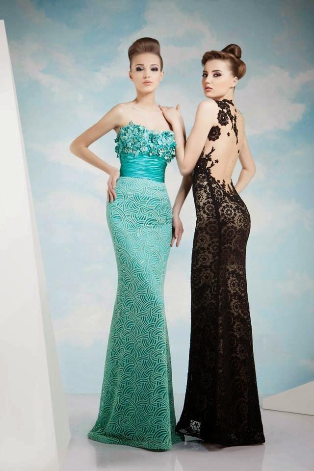 Vestidos de noche elegantes moda 2018