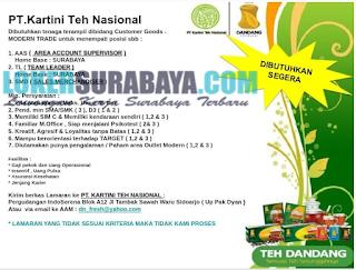 Loker Surabaya Terbaru di PT. Kartini Teh Nasional Juni 2019