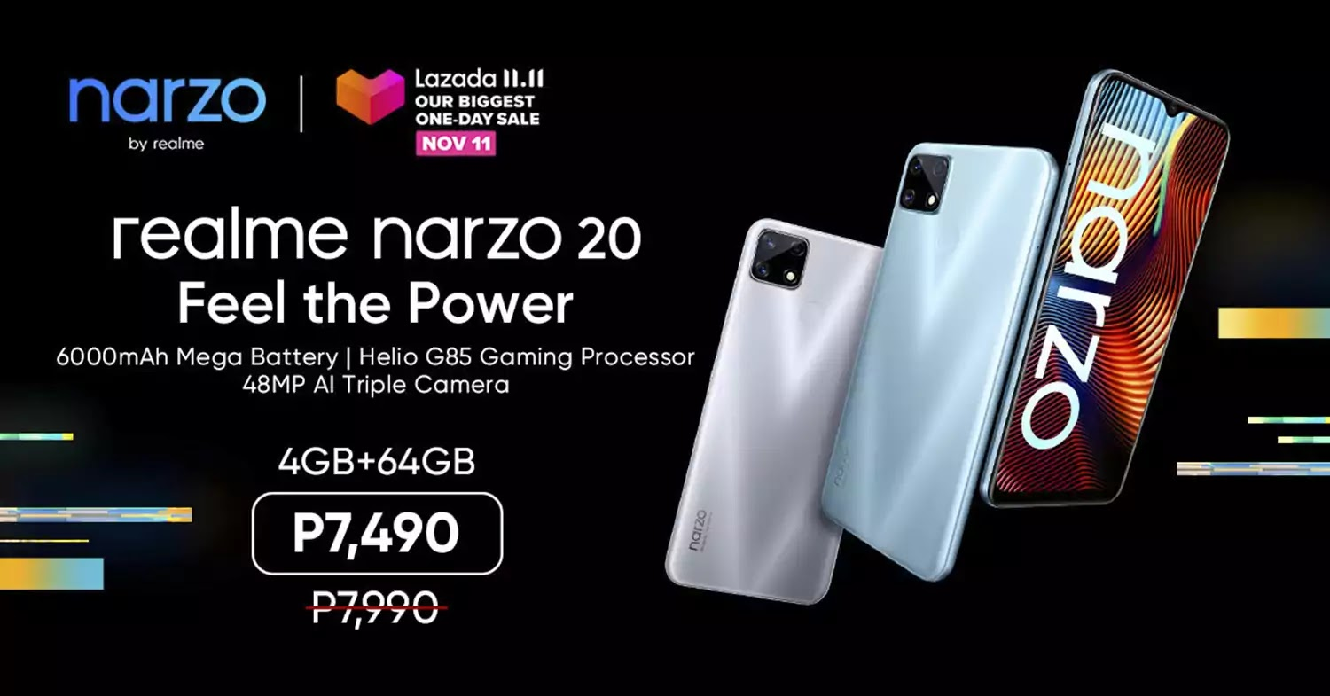 realme narzo 20 price and availability
